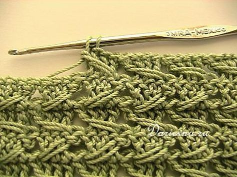 """Samurai"" crochet relief stitch pattern.  i think this would be a great stitch for a purse!"