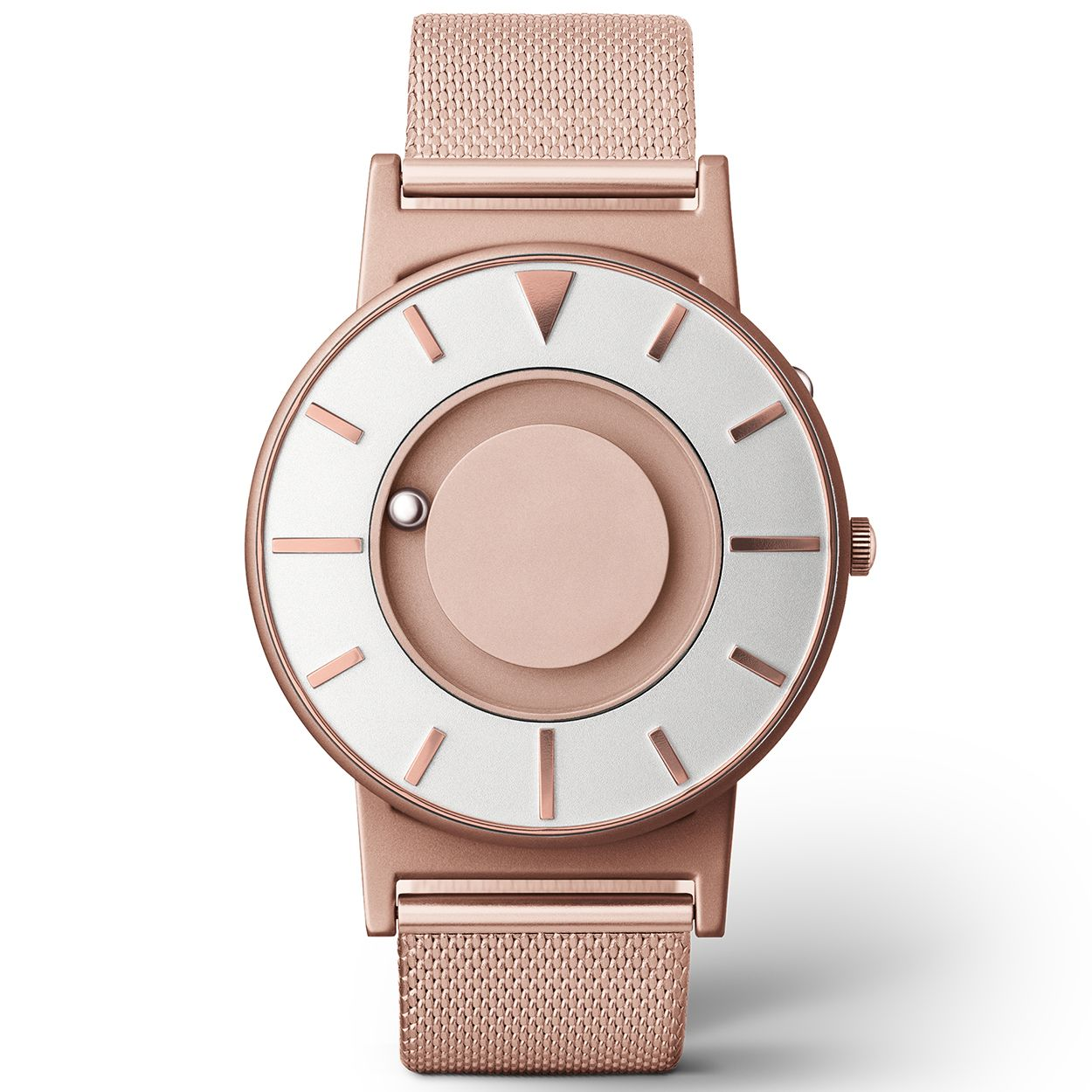 009043d0d08834 The iconic Bradley watch is now available in a new, feminine colour - dusky  pink rose-gold. Each Bradley Mesh features a rose-gold PVD coated stainless  stee