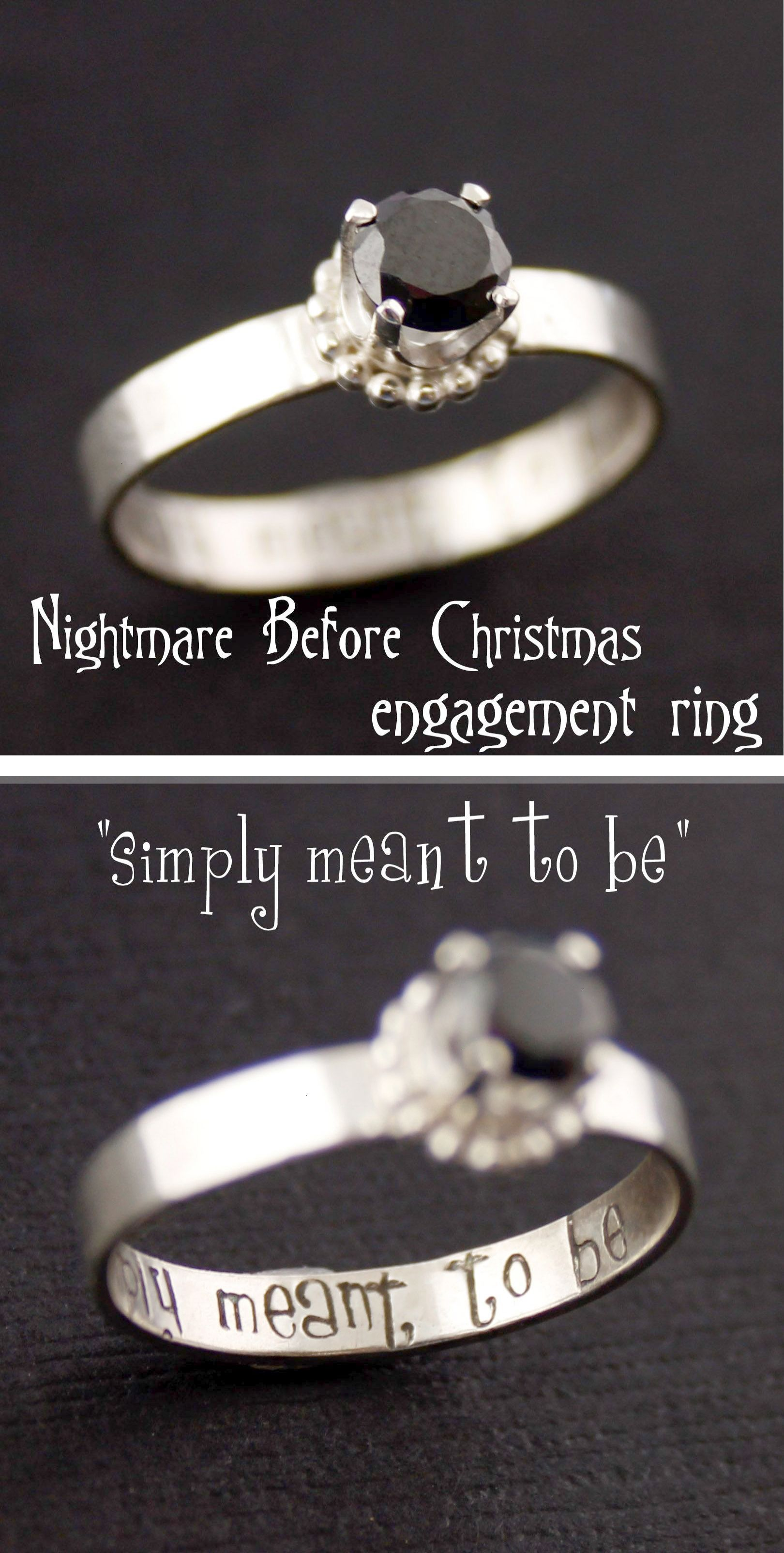Nightmare Before Christmas Simply Meant to Be Engagement Ring from ...