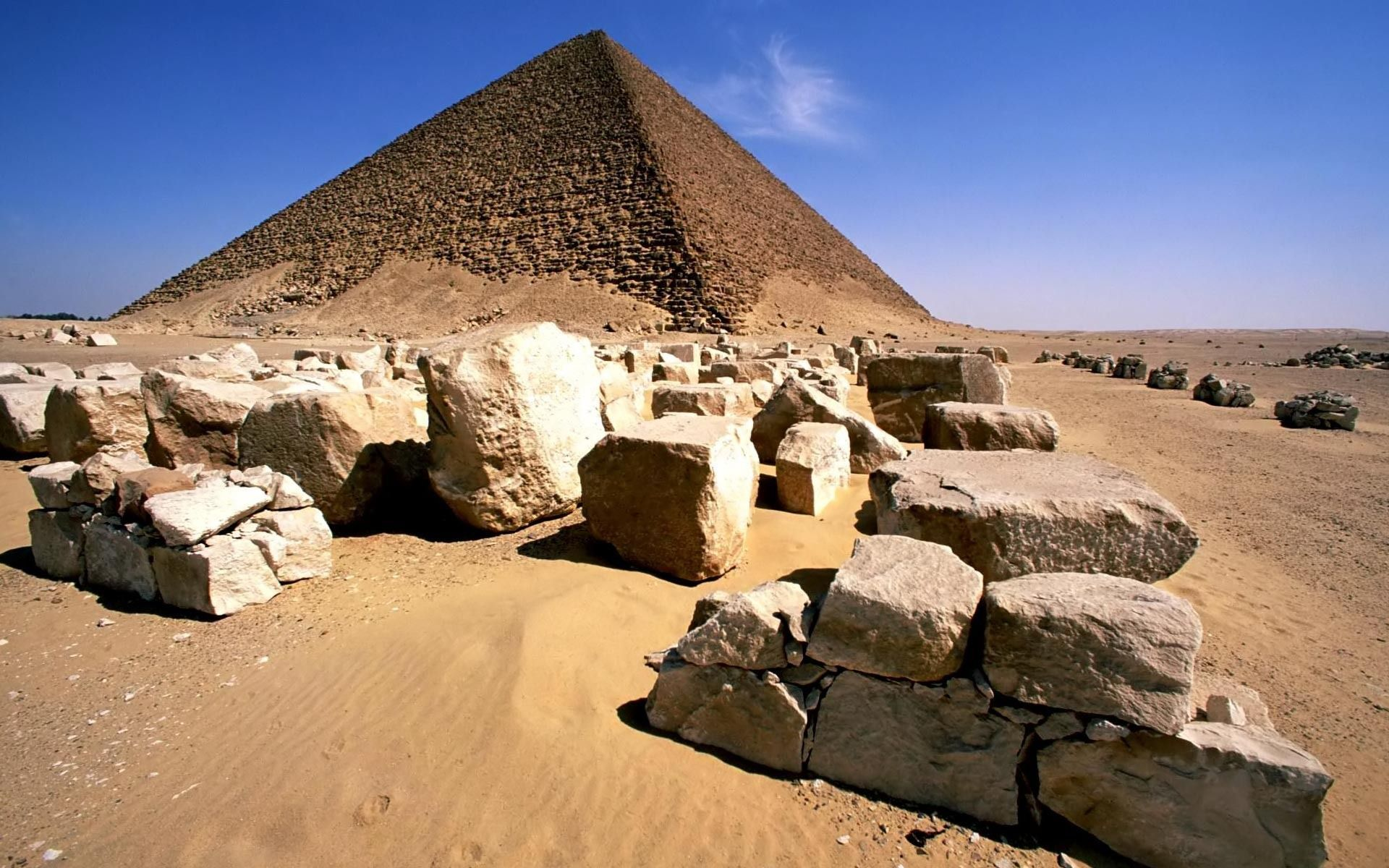 The Red Pyramid Of King Snerfru Dahshour Egypt