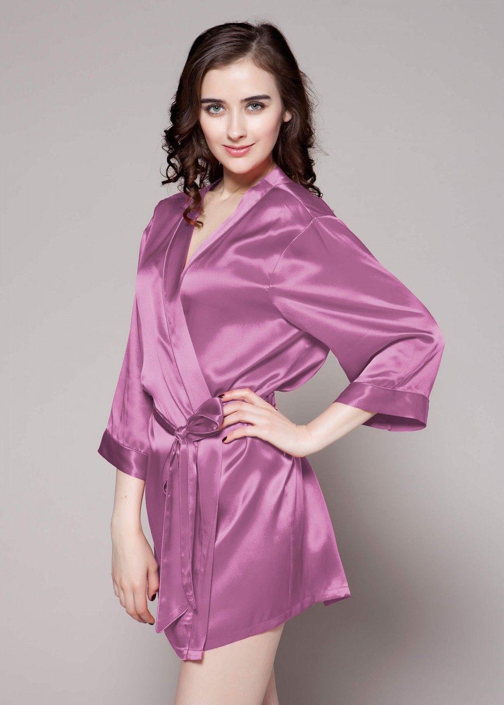 062b25d34b7 22 Momme Mini cut Silk Dressing Gown