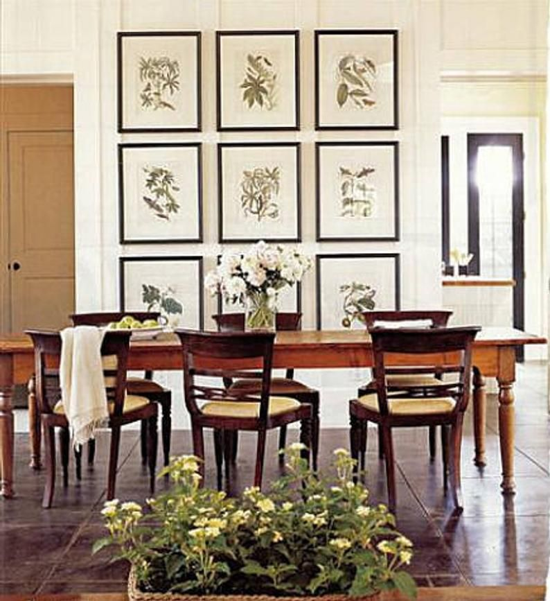 Printable Art Vintage Fern Wall Decor Instant Download A4 Jpeg Dining Room Wall Decor Dining Room Walls Elegant Dining Room