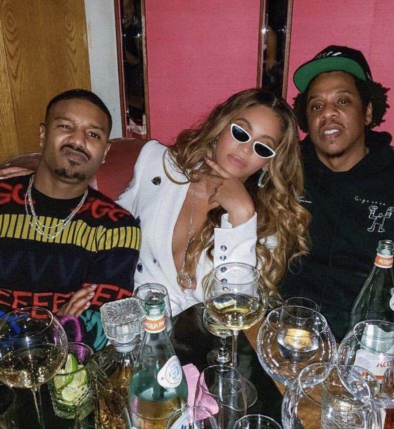Beyonce Parties With Michael B Jordan And Jay Z In Sergio Hudson White Embellished Blazer Now On Fashion Bomb Daily Shop Michael B Jordan Beyonce Party Michael B Jordan Birthday