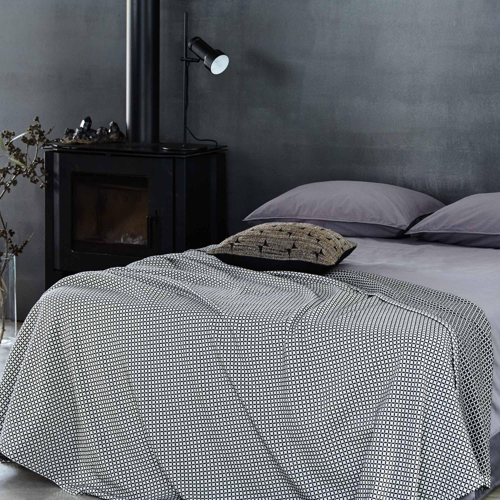 tagesdecke und kissenbezug aus baumwolle mit relief - tagesdecken, Schlafzimmer entwurf