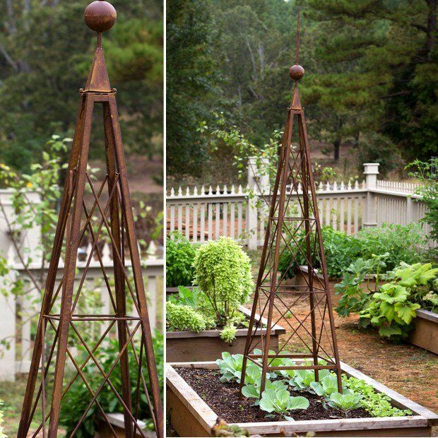 Perfect Rustic Garden Pyramid Trellis
