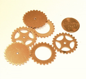 Copper Gear Mix (6 Pieces) Large 1""
