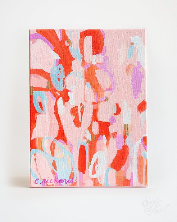 Sweet Tooth Original Abstract Acrylic Painting On Stretched Etsy Abstract Abstract Painting Acrylic Art
