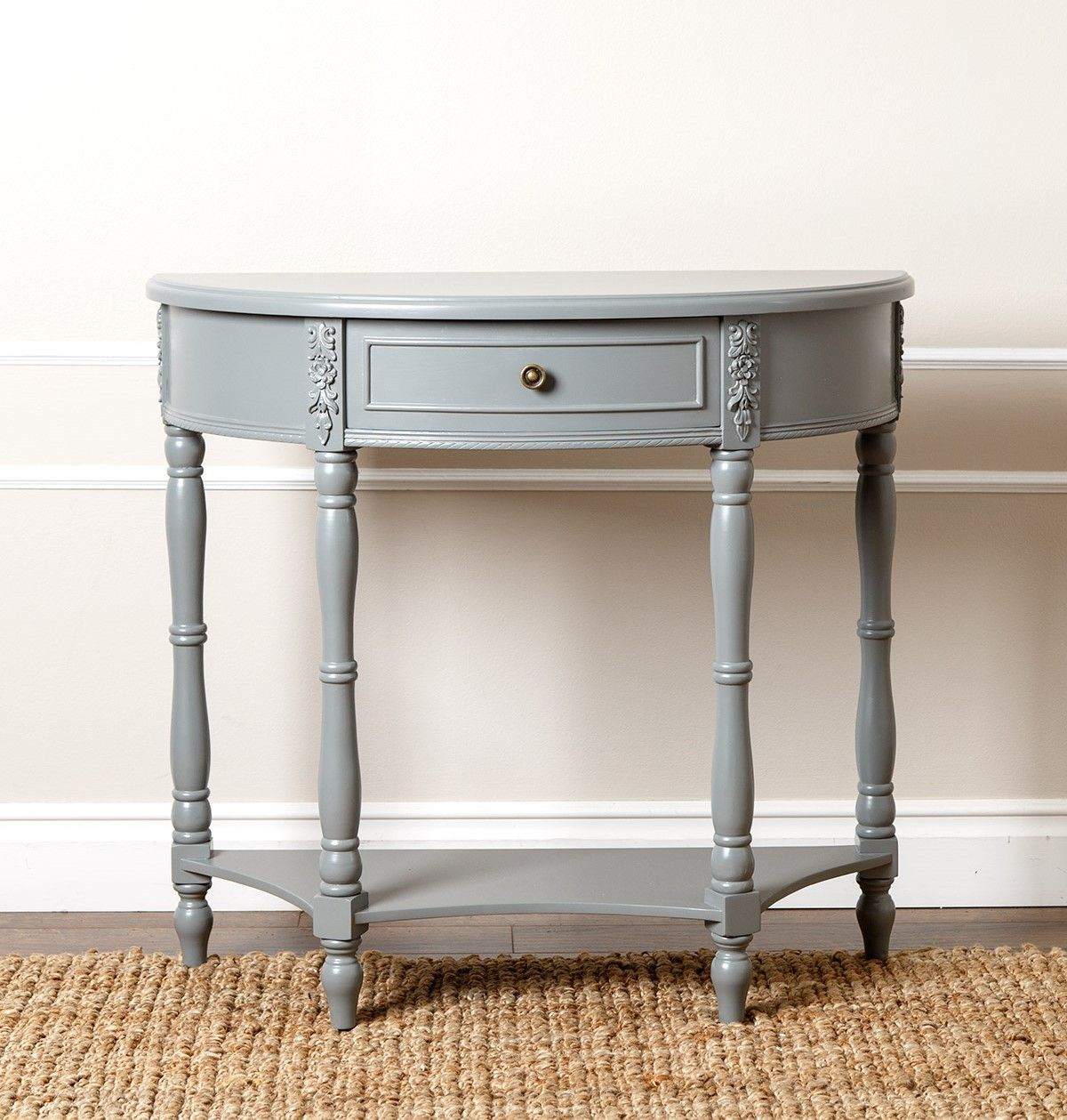San pedro antiqued steel blue console sofa table