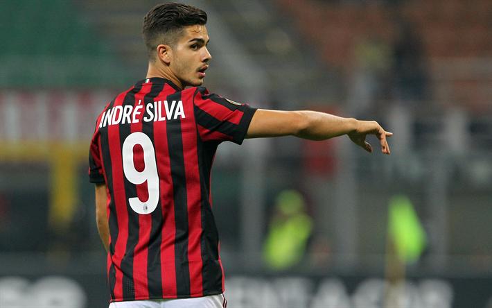Scarica Sfondi 4k Andre Silva Calciatori Milan Serie A Match