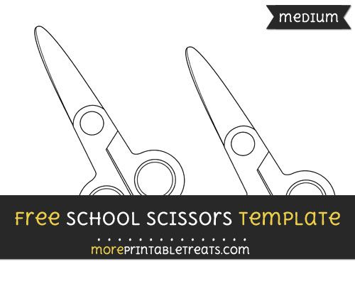 free school scissors template medium shapes and templates