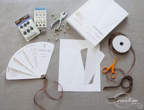 DIY Fan Program Kits From Cherish Paperie