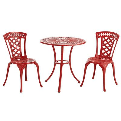 Neely Bistro Set Red Pier1outdoorparty Sponsored By Mc