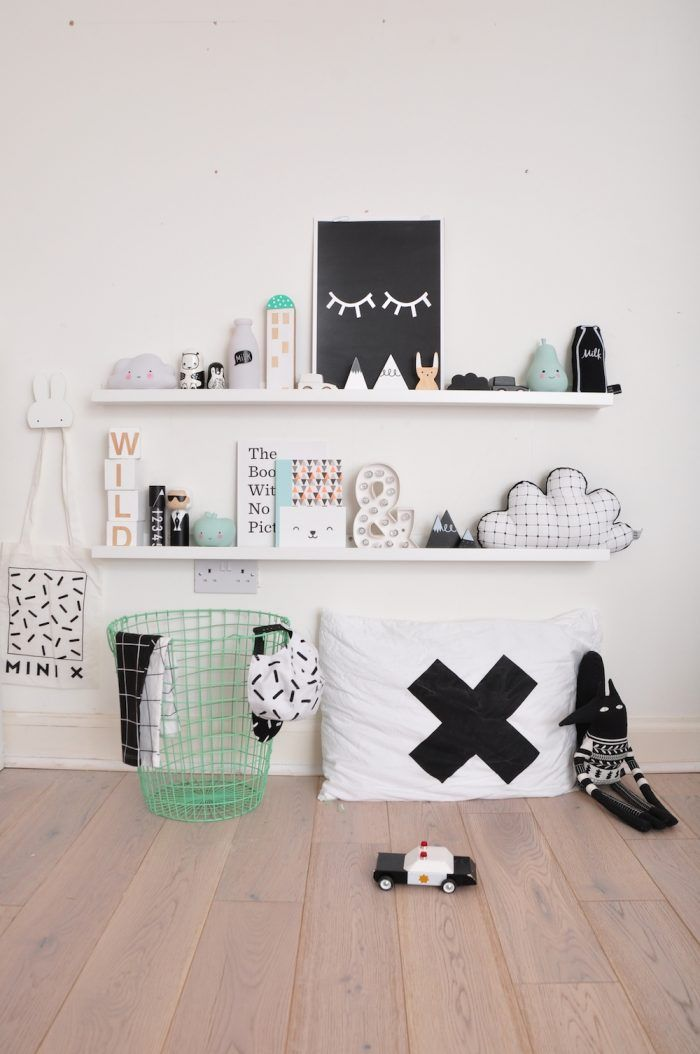 White Bedroom With Pop Of Color black and white kid's rooms with a pop of colour | white kids room