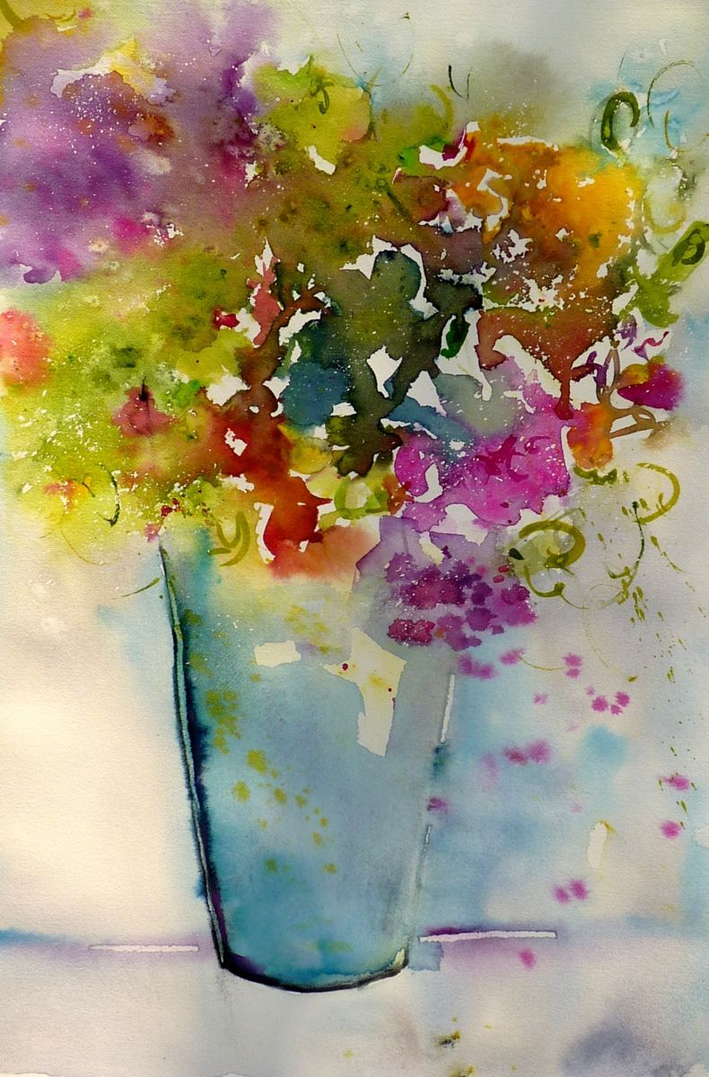 Pin By Ana On Watercolors Abstract Flower Painting Acrylic