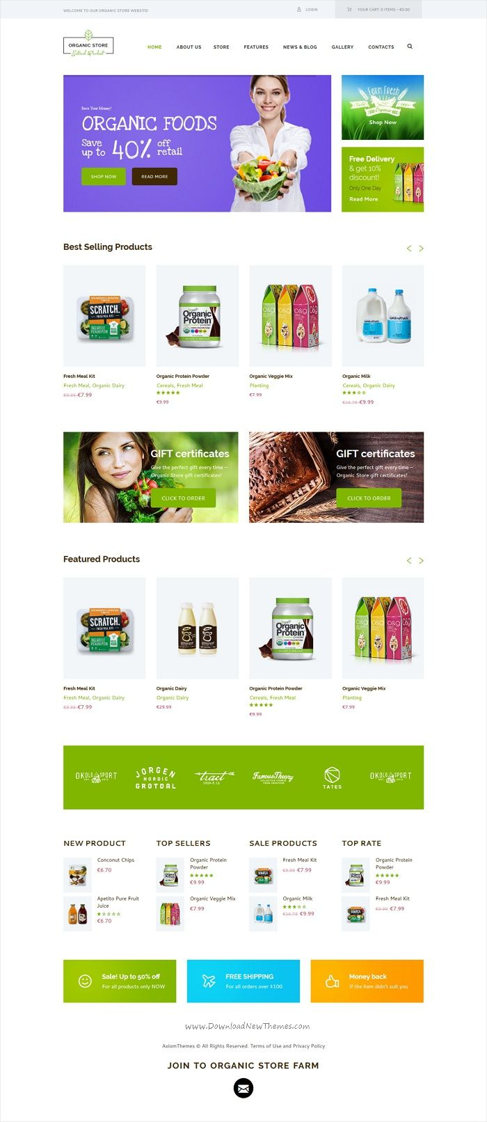 Organic Food & Eco Products Site Template | Pinterest | Eco products ...