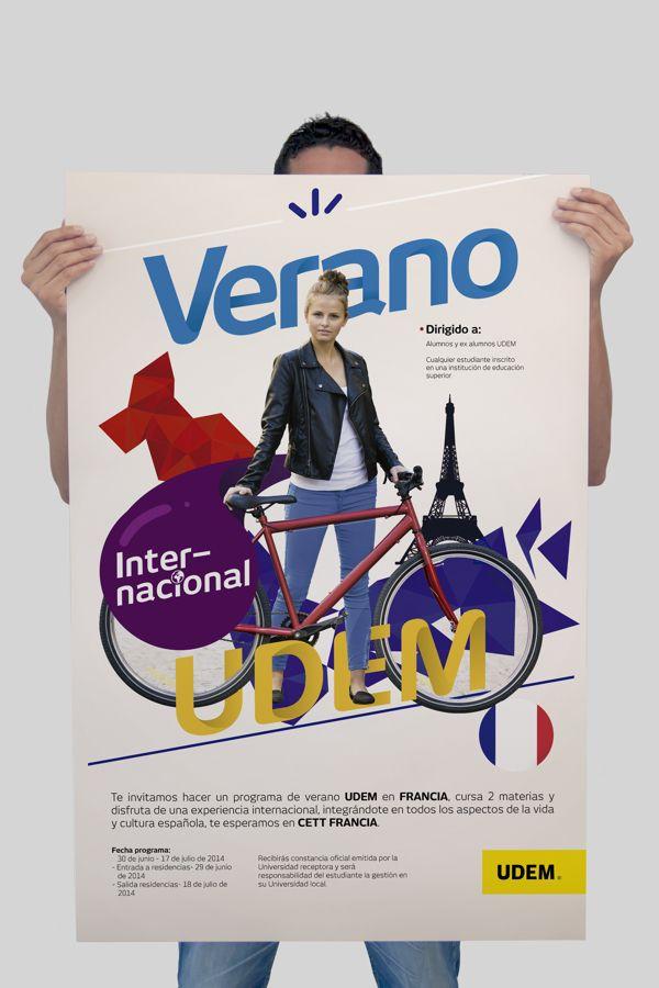 Verano Internacional UDEM by Alfredo Porras, via Behance
