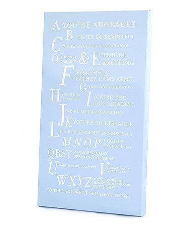 Take a look at this Blue 'A You're Adorable' Alphabet Wall Art by Twelve Timbers on #zulily today!