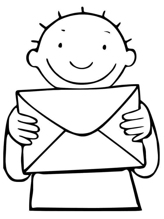 thema post postbode jules kleurplaat thema