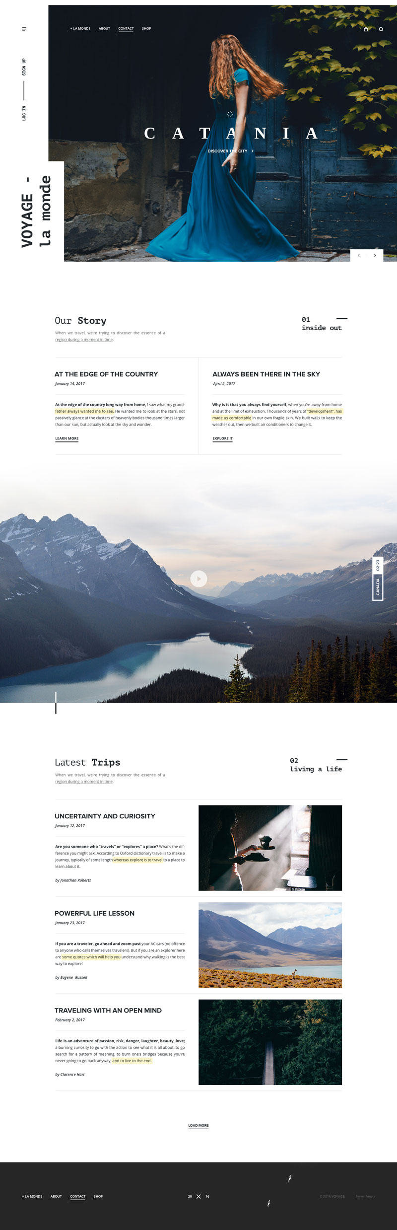 Voyage Concept Website