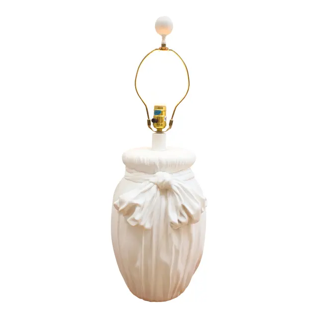 Draped Plaster Ribbon Lamp John Dickinson Vintage 80s Chairish In 2020 Lamp Table Lamp Lighting Vintage