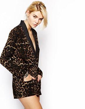 860ebbd482 One Teaspoon Tuxedo Playsuit in Leopard Print