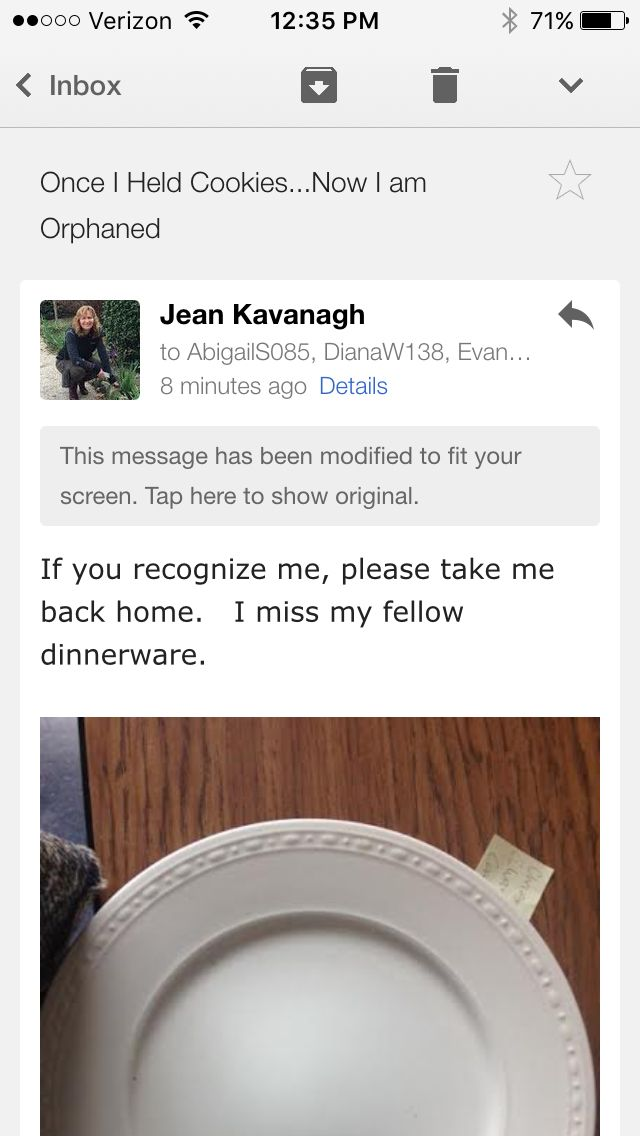 The orphaned plate...