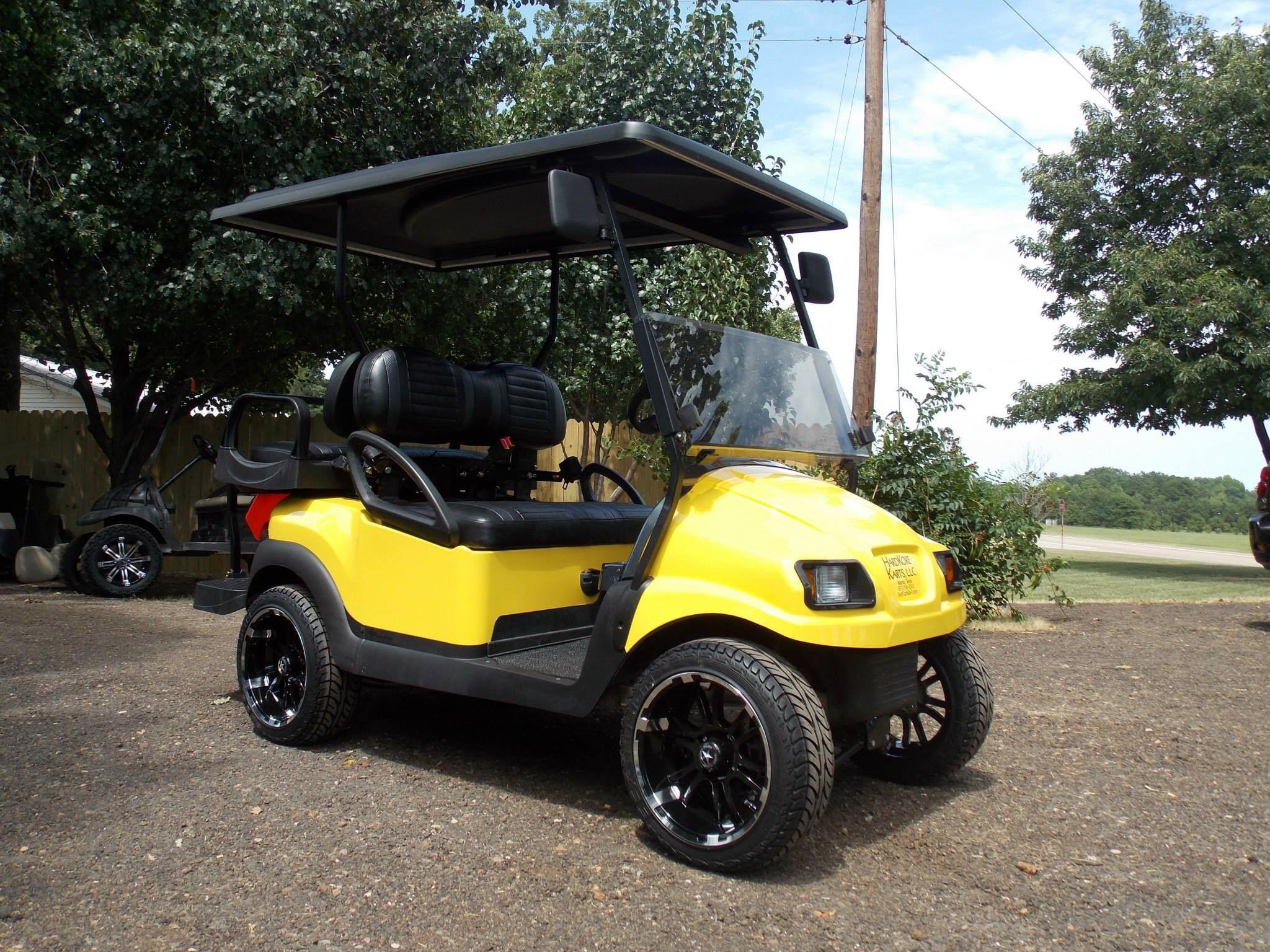 2011 Black N Yellow Phantom Club Car Precedent Electric 48v Golf Cart Golf Carts Lifted Golf Carts Golf