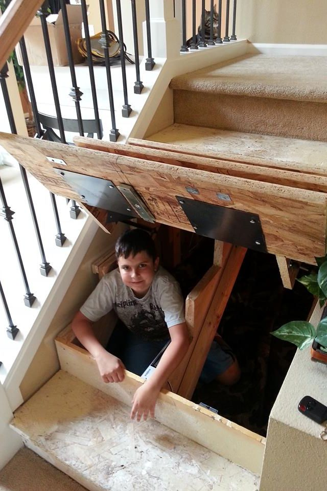 This would make a great access for storage under the stairs.
