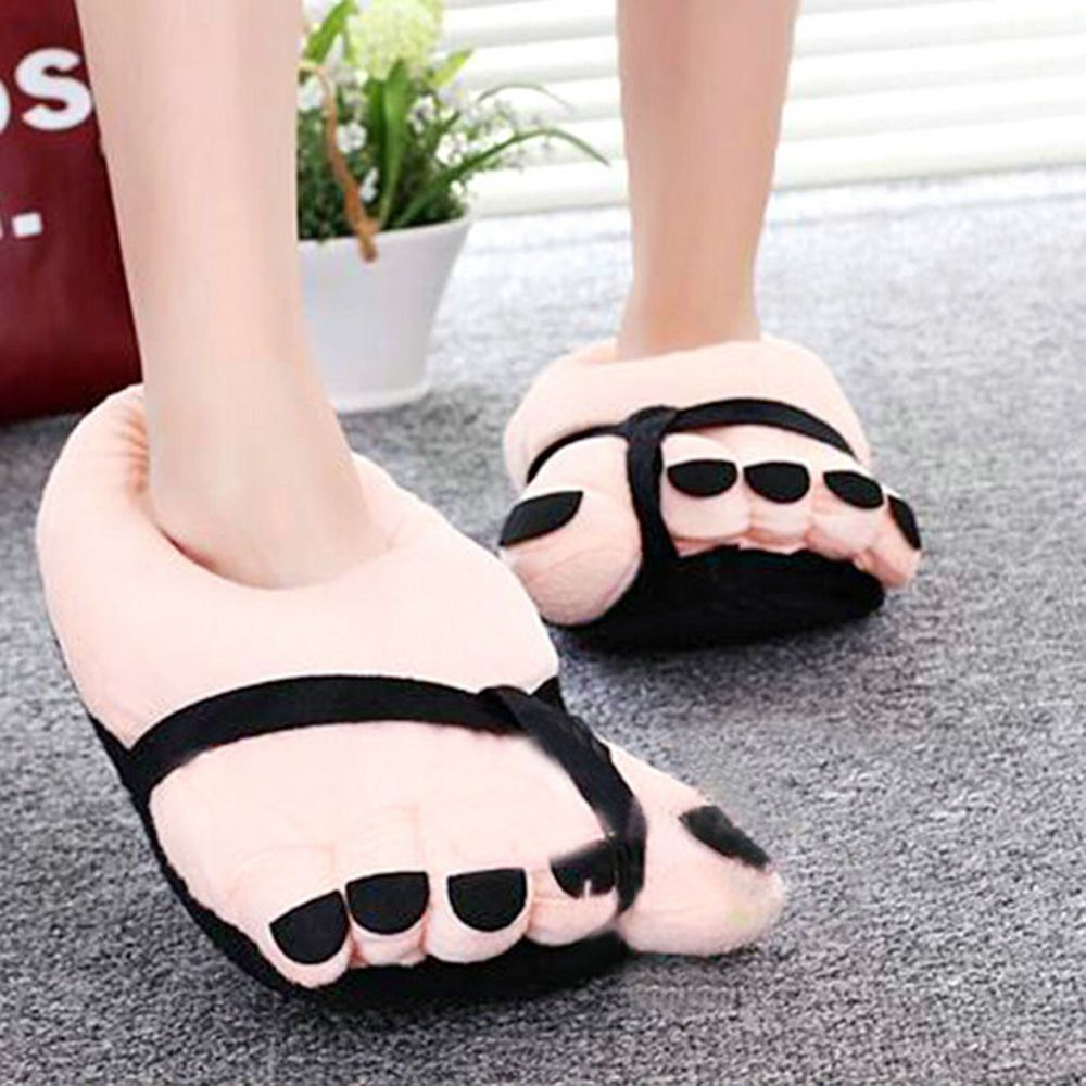 a3ffaf6916fbf5 Warning   - Walking on rough surfaces may result in Swollen Feet! Cute  Slippers