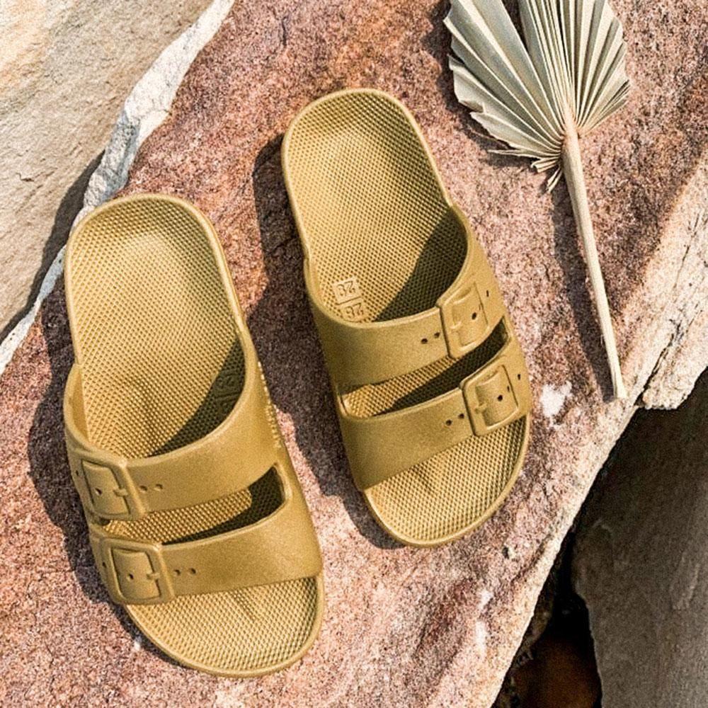 Freedom Moses Slide Pistaccio Kids Shoes Slip On Sandal Shoes Uk