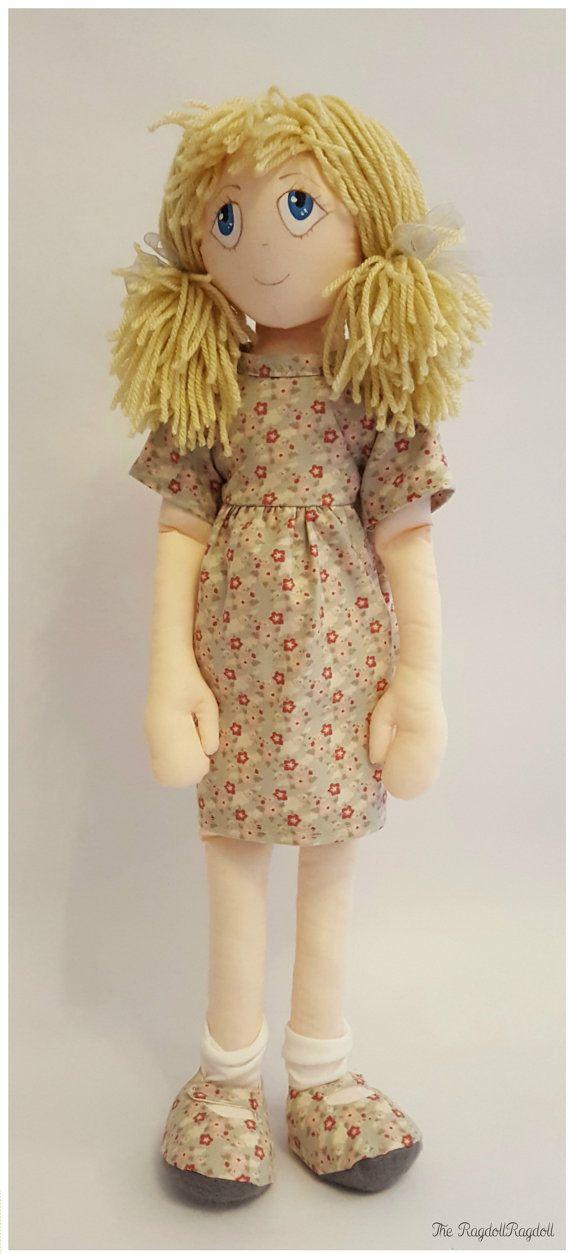 Handmade Rag Doll delightful 'Ditsy Rags' by TheRagdollRagdoll