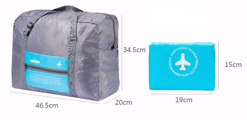 f4a0467aee Waterproof Foldable Super Lightweight Travel Carry-On Luggage Bag ...
