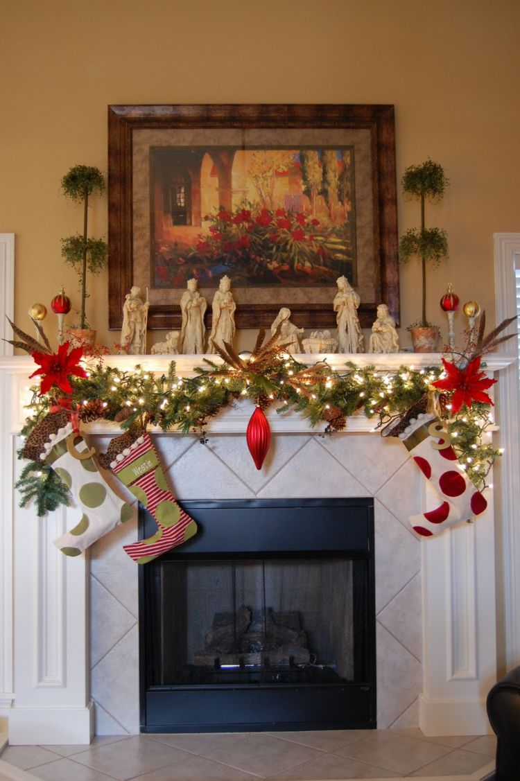 Motivos navide os para decorar la chimenea m s de 50 - Chimeneas para decorar ...