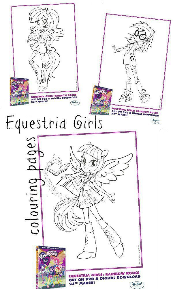My Little Pony Equestria Girls Colouring Pages | Tutoriales ...