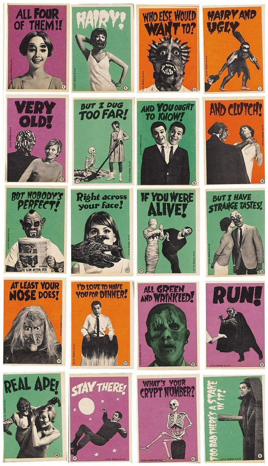 monster cards Horror monsters, Horror art, Classic horror