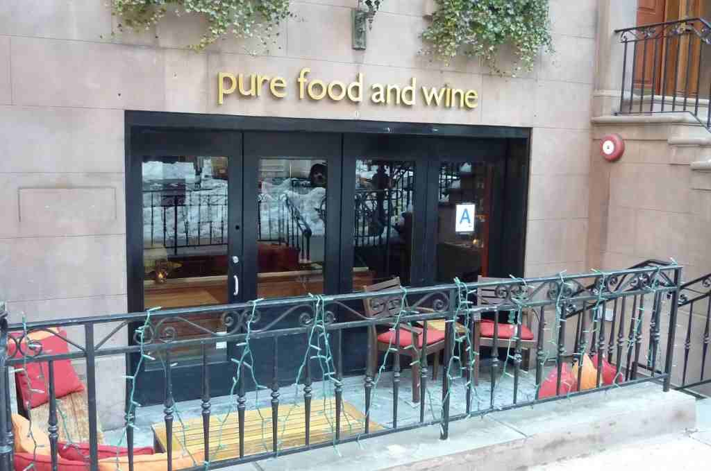 Pure Food And Wine At Seven If They Can Squeeze Us In Bared To