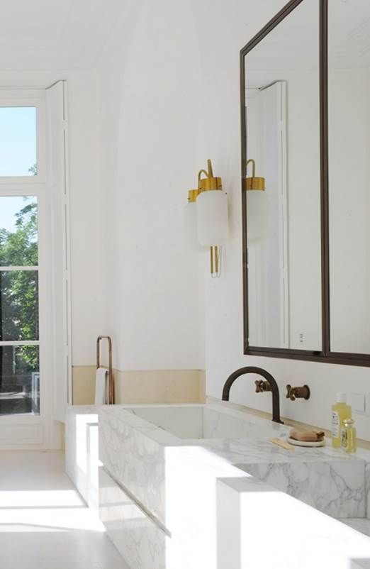 Sunny White And Marble Bathroom Joseph Dirand Bathroom