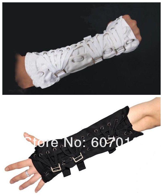 MJ Michael Jackson Cosplay Armbrace BAD Jam Gloves Black Cotton Glove Arm Brace