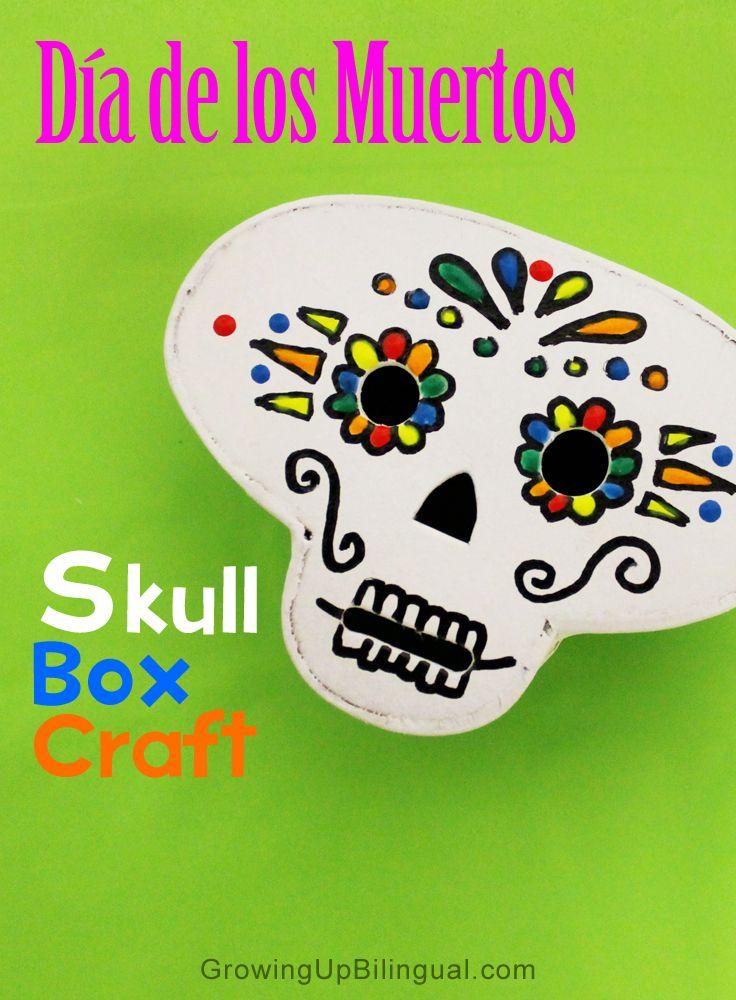 Dia De Los Muertos Skull Box Crafts