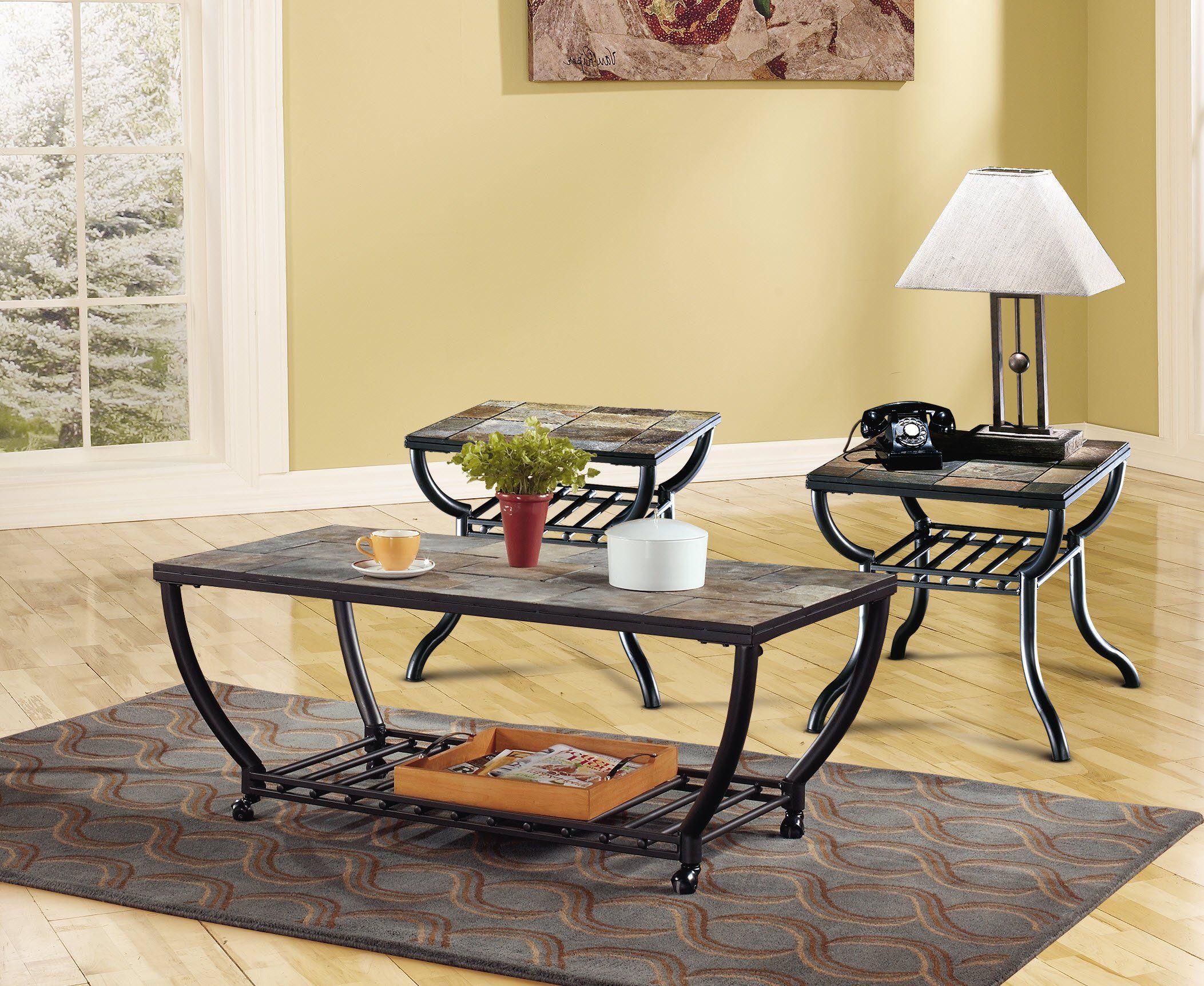Ashley furniture signature design antigo living room end