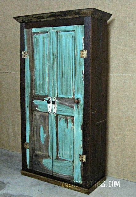 Large Storage Armoire Wardrobe Made From Reclaimed Wood For The