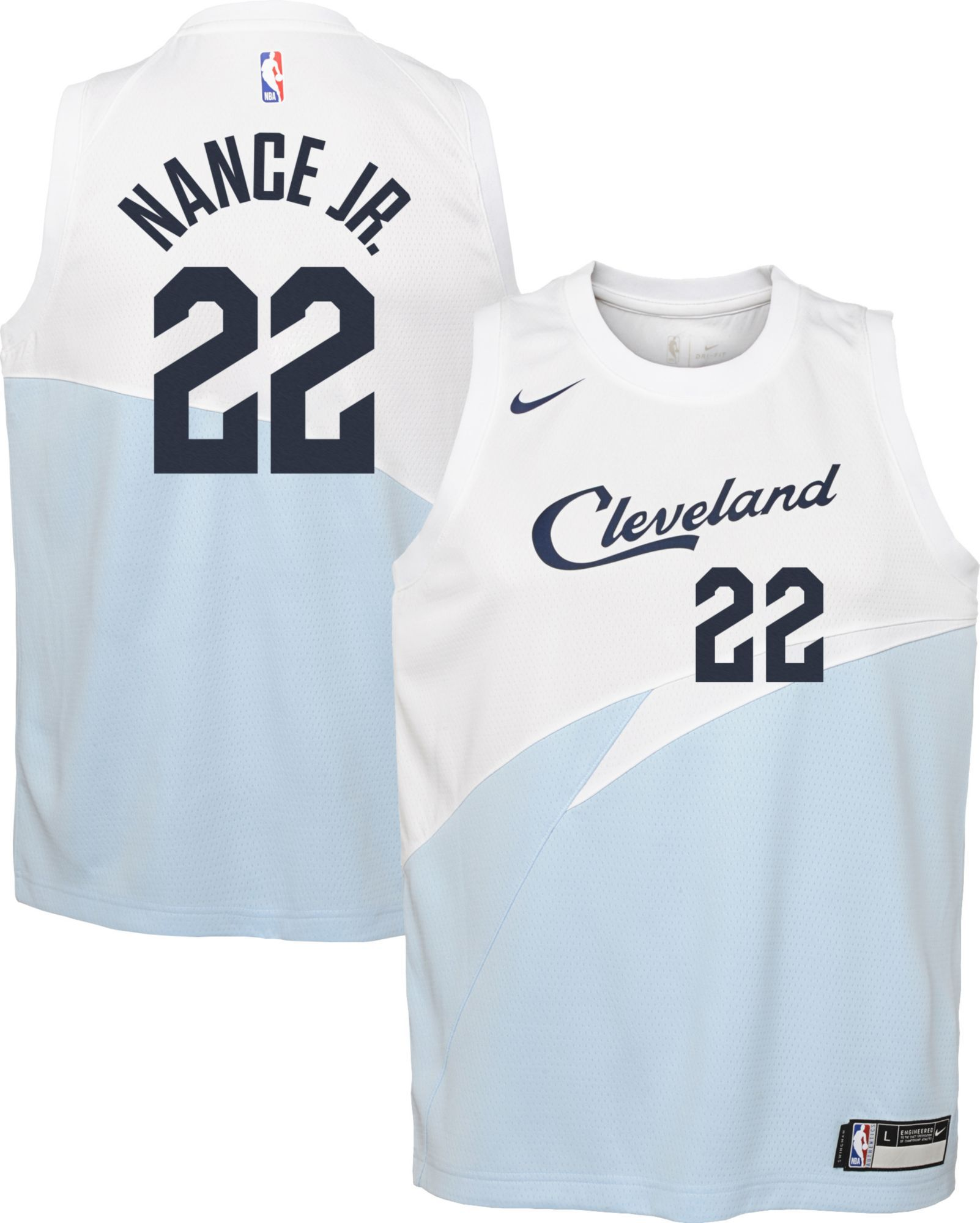low priced 71ba2 f73ab Nike Youth Cleveland Cavaliers Larry Nance Jr. Dri-FIT ...