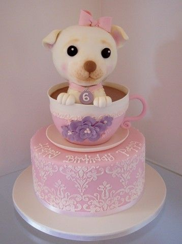 Magnificent Teacup Chihuahua Cake Puppy Birthday Cakes Funny Birthday Cards Online Unhofree Goldxyz