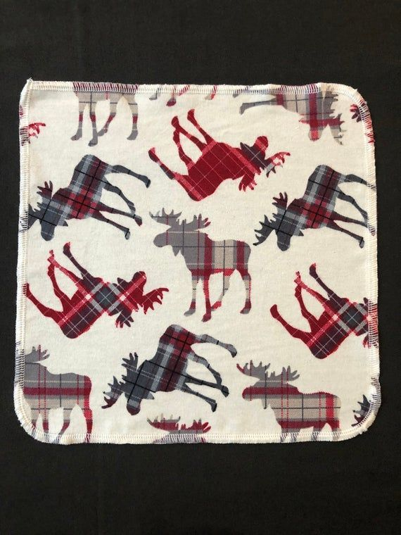 Moose Cloth Napkins, Red Plaid Napkins, Reusable Napkins, Waste Free, Eco Friendly Kitchen, Washable #clothnapkins
