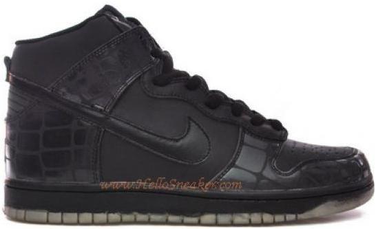 quality design 41bfd 9065a ... http www.asneakers4u.com 309432 002 Nike Dunk High LE 3M Reflective  Croc Black ...