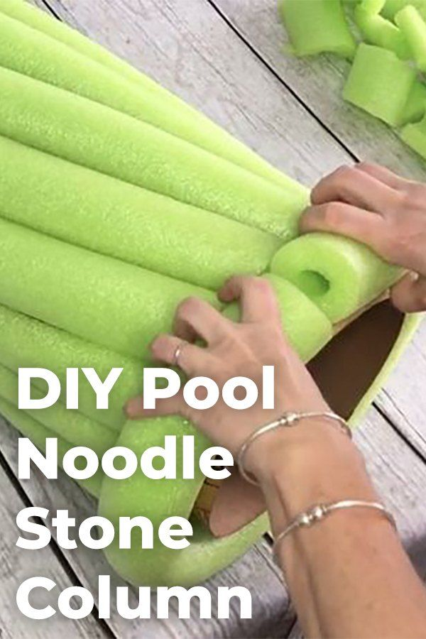 Upcycle Your Summer Pool Noodles Into A Crafty Faux Stone Column