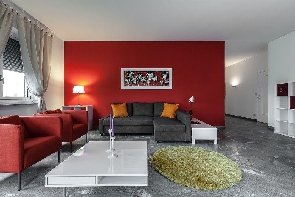 Decoraci n paredes rojas en 2017 no te lo pierdas for Paredes decoradas para salas
