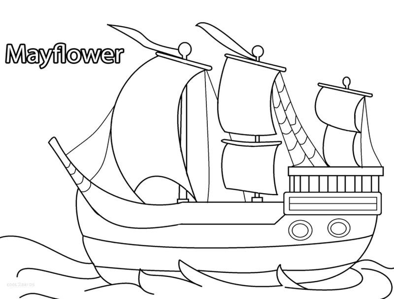 Mayflower Coloring Pages See The Category To Find More Printable