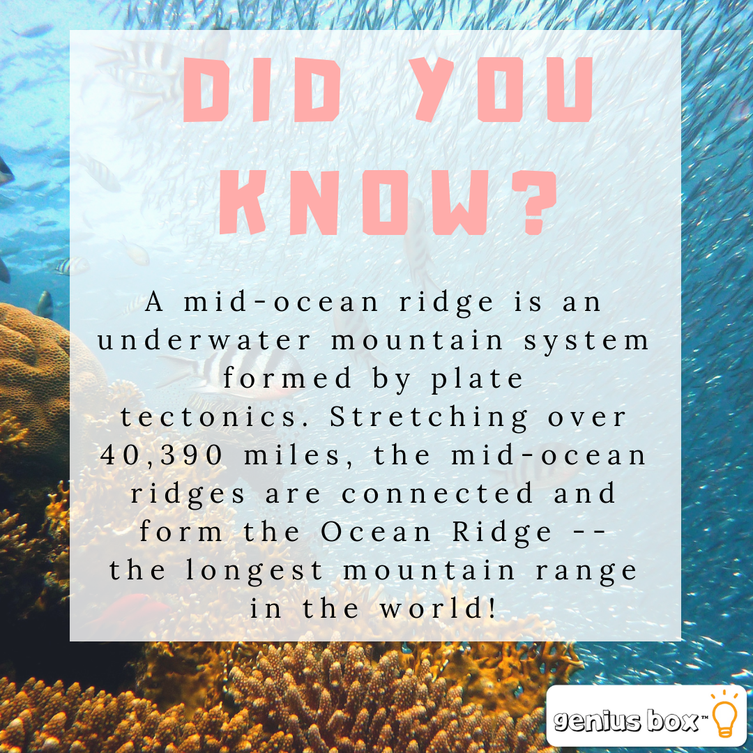 Did You Know A midocean ridge is an underwater