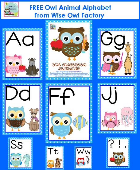 Classroom Decoration Printables Free : Free owl theme classroom alphabet printable pdf start of